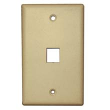 Skywalker Signature Series Keystone Wall Plate for 1 Jack, Almond SKY05221A