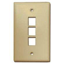 Skywalker Signature Series Keystone Wall Plate for 3 Jacks, Almond SKY05223A