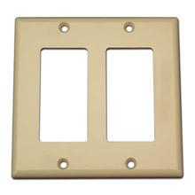 Model ADGWPIV Double Gang Keystone Decora Style Wall Plate, Ivory