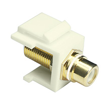 Skywalker Signature Series Keystone F Female to RCA Female Insert with White Band (Ivory insert) SKY20208WI