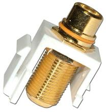 Skywalker Signature Series Keystone F Female to RCA Female Insert with Yellow Band (White insert) SKY20208YW