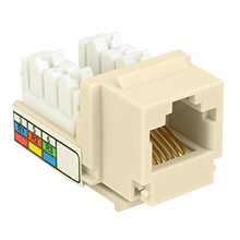 Skywalker Signature Series Keystone RJ-11 Phone Jack Insert, Ivory