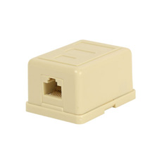 Skywalker Signature Series RJ-45 Surface Mount Modular Jack/Punch Down Type, Ivory