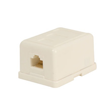 Skywalker Signature Series RJ-45 Surface Mount Modular Jack/Punch Down Type, White