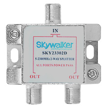 Skywalker Signature Series Splitter 5-2300MHz,  2-Way SKY23302D
