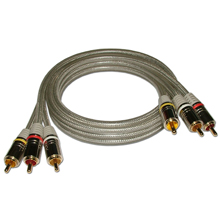 HQ Premium 3-ft Triple RCA Audio/ Video Cable SKY71153