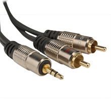 Skywalker Signature Series™ 3.5mm (1/8 in.) Mini Stereo to Dual RCA Male 12ft Cable SKY811812