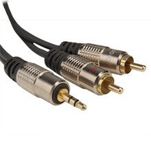 Skywalker Signature Series™ 3.5mm (1/8 in.) Mini Stereo to Dual RCA Male 20ft Cable SKY811820