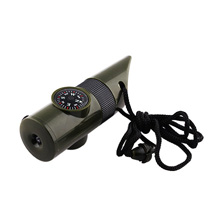 7 in 1 Military Style Compass, Green