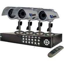 Swann Model SW244-9M4 DVR9-SecuraNet Security Kit. 4 CCD Cameras with 9 Channel Digital Video Recorder. Used, Like New SWA2449