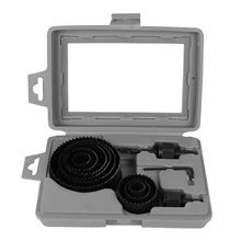 TerMight Series 9 Piece Wood Hole Saw Set with Plastic Case