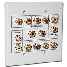 Choice Select 6.2 Home Theater Connection Wall Plate, white