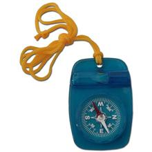 Skywalker Compass with Safety Whistle and Lanyard, Blue